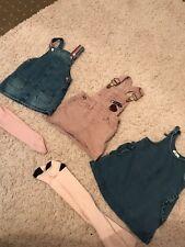 Next Baby Girls Pinafore Denim Dress Bundle 9-12 Months