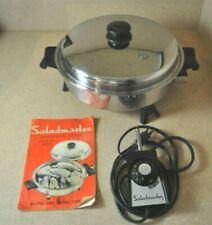 "Saladmaster 11"" Electric Skillet w/Vapo Lid & Instruction Book Model #7817"