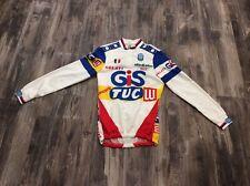 VINTAGE 1980's SEB Gis Gelati Tuc Lu Cycling Jersey Sz Small EUC