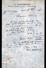 """BOURGES (18) BANQUE de FRANCE & SOCIETE GENERALE """"Léon CONTENCIN"""" en 1896"""