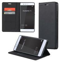 Custodia per Huawei Mate 9 Cover Case Portafoglio Wallet Etui Nero