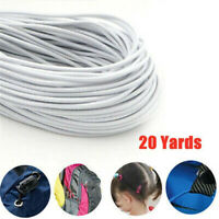 20 Yards Top Quality Round 3mm Elastic Band Stretch-Rope Cord DIY Crafts Sewing.