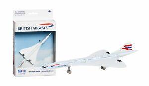 British Airways Concorde Toy Airplane Diecast with Plastic Parts