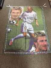 "David Beckham * Real Madrid Flag/Banner Poster/Pennant ~ Curtain Size 54"" x 38"""