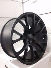 "4  Dodge SRT Hellcat 20"" Matte Black Wheels OE 20x9 20x10 Charger Challenger"
