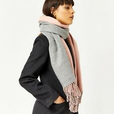Warehouse - Reversible Pink & Grey Scarf - One Size - MJ181 EE 12