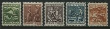 Austria 1924 Semi-Postal set of 5 mint o.g. hinged