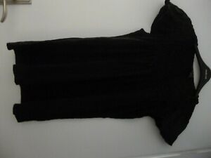 STYLE & CO Black Capped Sleeved Top - Size M