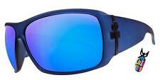NEW Electric Visual Big Beat Blue Mirror Mens Oversize Wrap Sunglasses Msrp$110