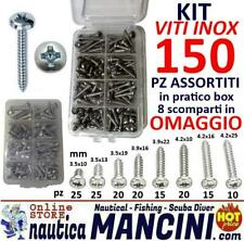 6954 BLISTER 15 VITI AUTOFILETTANTI INOX AISI 304 TESTA PIATTA 4,2X50 DIN 7981