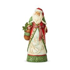 Jim Shore Christmas: Heartwood Creek: Santa Claus; Santa with Winter Scene