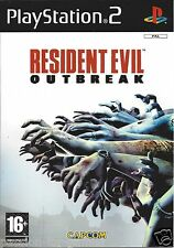RESIDENT EVIL OUTBREAK for Playstation 2 PS2 - with box & manual - PAL
