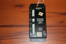 Untested/Parts Rowe 40856101 Title Rack Keyboard Interface Assy (SEE PHOTOS)