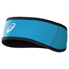 Asics Winter Running Headband Blue Black Reversible Reflective Warm Mens Womens