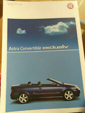 Vauxhall Astra Convertible Exclusiv brochure Dec 2004