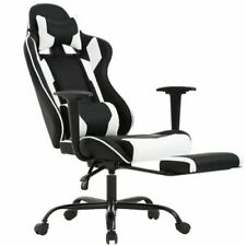 Game Chair Office PU Leather Chair massage chair Adjustable 360° Black & white