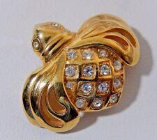 Rare Hard To Find Vtg. Swarovski S.A.L. 18Kgp Crystal Bee - Fly Brooch Pin Evc