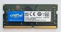 Crucial 8GB DDR4 2666MHz Laptop RAM ~ PC4 21300 2666V SODIMM Memory 260pin 1Rx8
