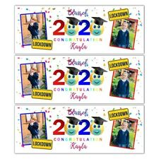 X 2 PERSONALISED LOCKDOWN GRADUATION PHOTO BANNER WALL DECORATION 2020