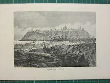 c1890 ANTIGUO ESTAMPADO ~ GENERAL VIEW OF TOBOLSK