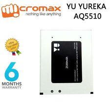 100% ORIGINAL MICROMAX YUREKA BATTERY FOR MICROMAX YU YUREKA AQ5510 2500mAh