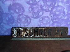 """Vintage Advertising Porcelain Street Sign """" N.Sumner Av""""  6"""" X 29 3/4"""""""