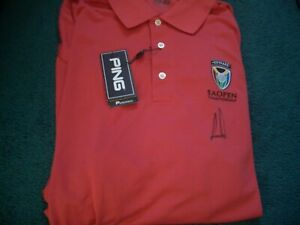 ERNIE ELS SIGNED PING GOLF POLO SHIRT 101 YEARS SOUTH AFRICAN OPEN CHAMPIONSHIP