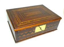 Box Wooden Box With Inlaid Um 1870