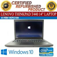 "Lenovo ThinkPad T440 14"" Intel i5 8 GB RAM 500 GB HDD Win 10 WiFi B Grade Laptop"
