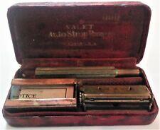 Vintage Valet Auto Strop Razor w/Blades, Strop and Blade Bank in Original Case