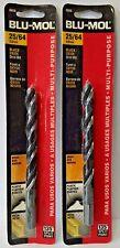 """Blu-Mol 25/64"""" High Speed Drill Bit 6650 2PKS"""