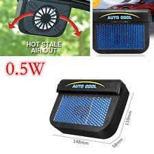 Car Solar Powered Air Vent Cooling Fan Window Ventilation Radiator System Black