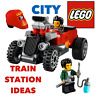 LEGO✨City Car Hot Rod Dragster Vehicle Train Town Station 60197 60198 GIFT TOYS