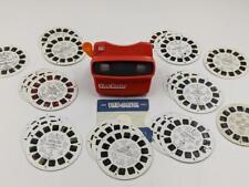 Vintage Red View Master 3D w/ 23 Reels Disney Sesame Street Voltron MORE