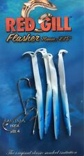 "RED GILL FLASHER - BLUE & WHITE 70mm( 2.75"" ) - 4pcs- SEA FISHING LURE"