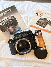 Excellent Condition | Pentax 67 6X7 Medium Format SLR Film Camera w/ Wood Grip