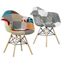 Moda TUB Patchwork Dining Armchair Chair Retro Vintage Modern Scandinavian Style