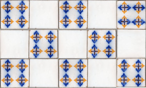 15 original antique tiles Ca1870 France Pas Calais Provecal Style RR backsplash