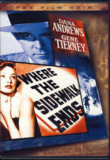 WHERE THE SIDEWALK ENDS (FOX FILM NOIR) (DVD)