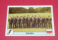 N°201 EQUIPE FOOTBALL POLSKA POLOGNE PANINI MONTREAL 76 JEUX OLYMPIQUES 1976 JO