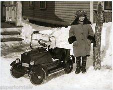 Vintage Peddle Car Windshield Fenders Lights Hood Ornament Little Girl Driver