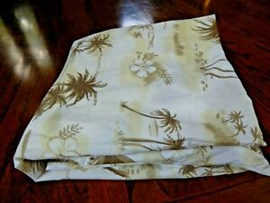 Queen POTTERY BARN Palm Tree Duvet Cover w/ Hibiscus Flowers!