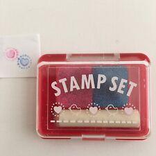 Rare Vintage Sanrio Heart Stamp Set 1988 Still Stamping 1988 Mini Made in Japan
