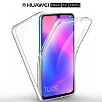 COVER per Huawei P30 / Lite / Pro CUSTODIA Fronte Retro 360° SILICONE SLIM TPU