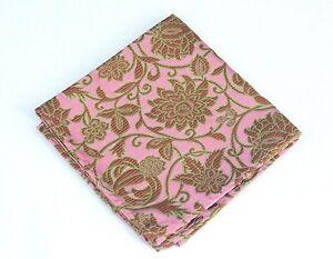 Lord R Colton Masterworks Pocket Square - Bimimi Rose Silk - $75 Retail New