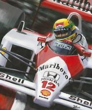 Art card 1988 McLaren Honda MP4/4 #12 Ayrton Senna (BRA) by Toon Nagtegaal (OE)