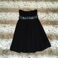 WHITE HOUSE BLACK MARKET STRAPLESS BEADED EMPIRE DRESS W/BEADS WOMENS SZ 2