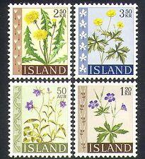 Islandia 1960 Flores silvestres/Plantas De Geranio/Buttercup// naturaleza 4v Set (n38172)