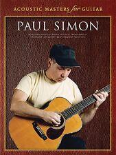 Paul Simon Acoustic Masters for Guitar Sheet Music Guitar Tab Book NEW 014025209