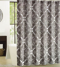 Tahari Fabric Cotton Blend Shower Curtain Lace Pattern Black & White - NEW